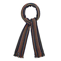 Mantaray - Dark grey side striped scarf