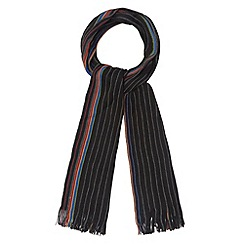 Red Herring - Grey fine striped side panel scarf
