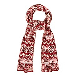 Mantaray - Red nordic reversible scarf