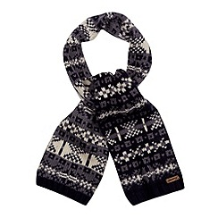 Mantaray - Navy jacquard chunky knit scarf