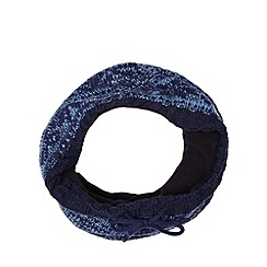 Mantaray - Blue fairisle knitted fleece lined snood