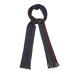 Jeff Banks - Designer grey multi striped scarf