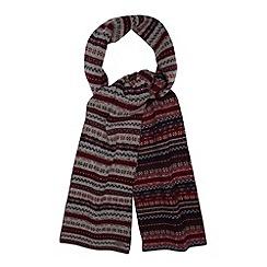 Hammond & Co. by Patrick Grant - Designer grey fairisle wool rich scarf