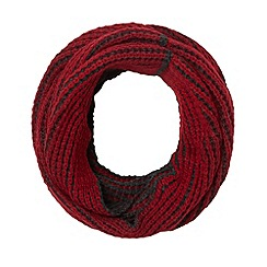 Red Herring - Red plaited knit snood