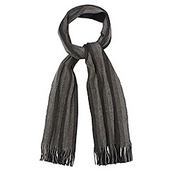 Maine New England - Grey textured striped scarf