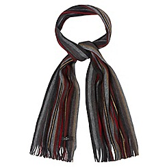 Jeff Banks - Designer grey striped knitted scarf