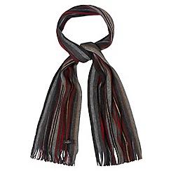 Jeff Banks - Designer grey striped knitted scarf