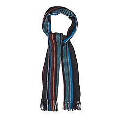 Maine New England - Dark grey fine striped scarf