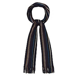 Maine New England - Navy knitted stripe scarf
