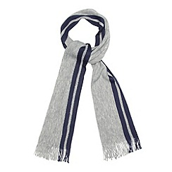 Jeff Banks - Designer light grey twin striped scarf