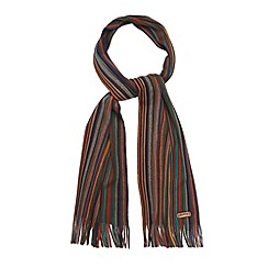 Mantaray - Green bright multi striped scarf
