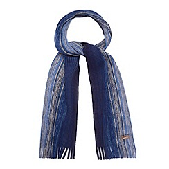 Mantaray - Blue striped chunky knit scarf