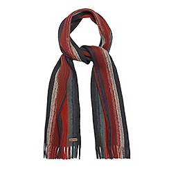 Mantaray - Orange striped chunky knit scarf