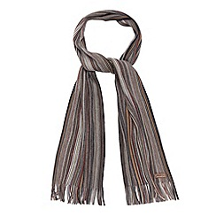 Mantaray - Grey multi striped scarf