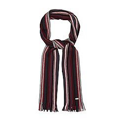J by Jasper Conran - Designer grey centre striped wool scarf