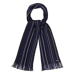 J by Jasper Conran - Designer blue vertical fine striped scarf