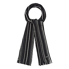 J by Jasper Conran - Designer black vertical fine striped scarf