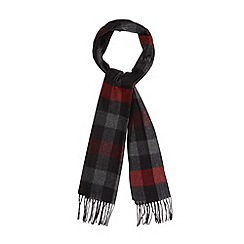 J by Jasper Conran - Designer red horizontal checked scarf