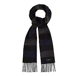 J by Jasper Conran - Designer blue checked jacquard scarf