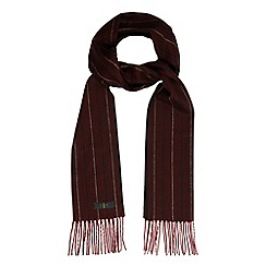J by Jasper Conran - Designer red herringbone pinstripe scarf