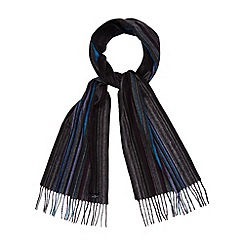 Jeff Banks - Designer grey striped scarf