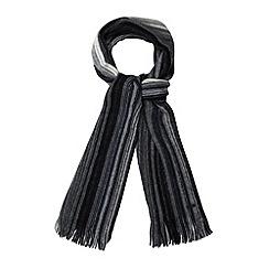 RJR.John Rocha - Designer grey tonal striped wool scarf