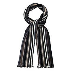 RJR.John Rocha - Designer grey wide striped wool scarf
