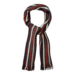 RJR.John Rocha - Designer grey striped brushed scarf