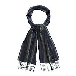 RJR.John Rocha - Designer blue herringbone patterned scarf