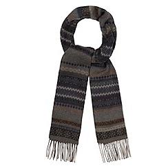 RJR.John Rocha - Designer grey fairisle woven scarf