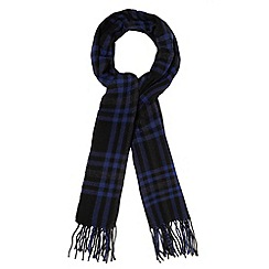 Red Herring - Black checked winter scarf