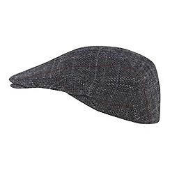RJR.John Rocha - Designer grey Harris tweed flat cap