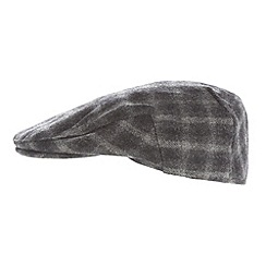 Osborne - Grey check wool flat cap