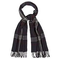 Jeff Banks - Designer grey checked woven scarf