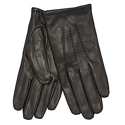 Dents - Black leather top stitch glove