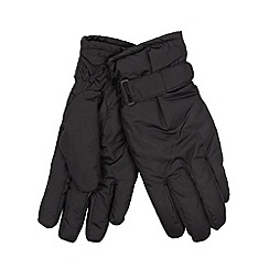Totes - Black water resistant padded gloves