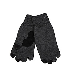 Totes - Grey touch screen knitted gloves