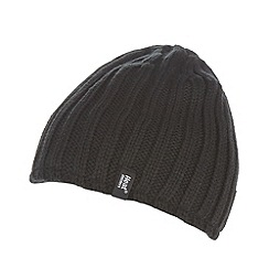 Heat Holders - Black thermal fleece lined hat