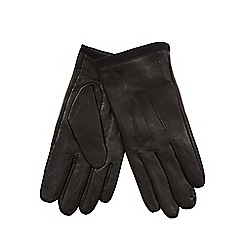 RJR.John Rocha - Black leather touch screen compatible gloves