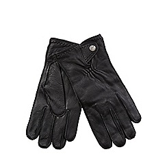 RJR.John Rocha - Black grained leather gloves