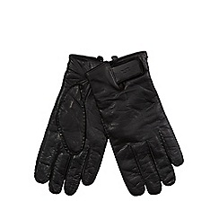 RJR.John Rocha - Black leather touch screen gloves