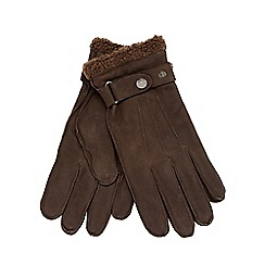 RJR.John Rocha - Brown fleece lined leather gloves