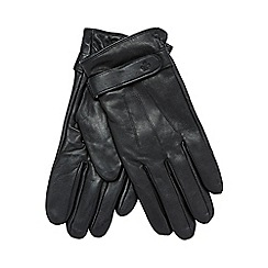 Jeff Banks - Black leather gloves