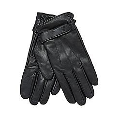 Jeff Banks - Black leather gloves