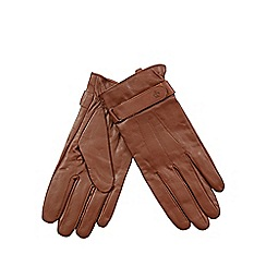 Jeff Banks - Tan leather gloves