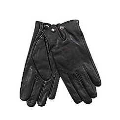 Jeff Banks - Black leather driving gloves