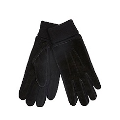 The Collection - Black suede gloves
