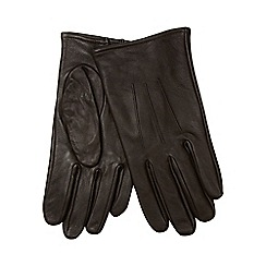 The Collection - Brown leather gloves