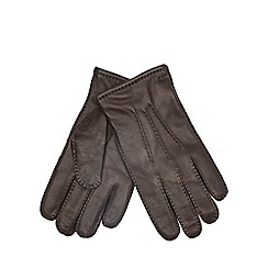 RJR.John Rocha - Brown deerskin grain gloves