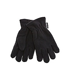 The Collection - Black fleece gloves